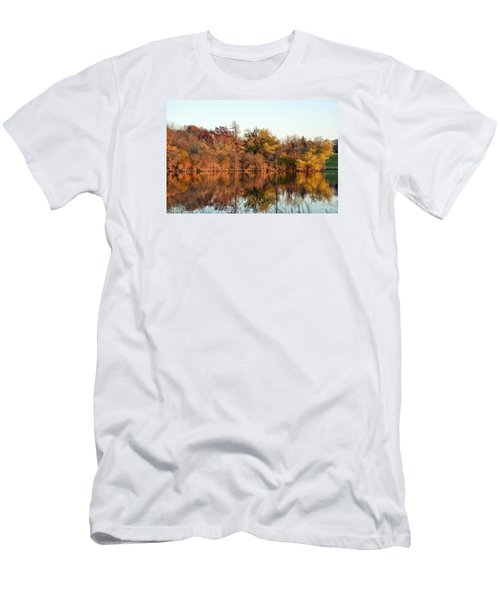 Autumn Reflections Men's T-Shirt (Slim Fit) by Nikki McInnes
