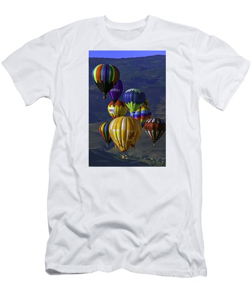 Balloons Over Reno Men's T-Shirt (Slim Fit) by Dorothy Cunningham