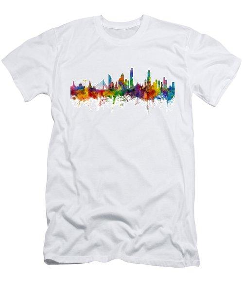 Bangkok Thailand Skyline Men's T-Shirt (Athletic Fit)