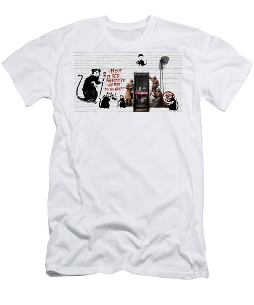 Banksy - The Tribute - Rats Men's T-Shirt (Athletic Fit)
