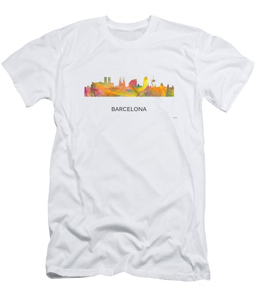 Barcelona Spain Skyline Men's T-Shirt (Athletic Fit)
