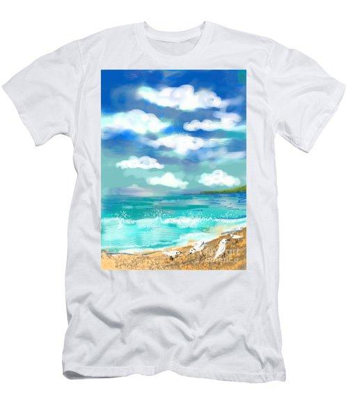 Beach Birds Men's T-Shirt (Athletic Fit)
