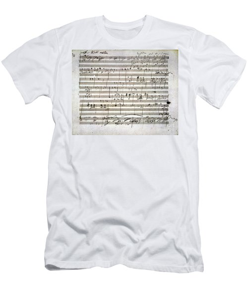 Beethoven Manuscript Men's T-Shirt (Athletic Fit)