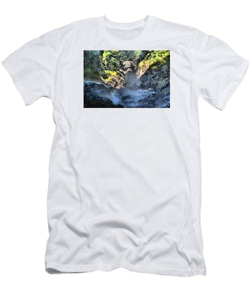 Behind The Falls Men's T-Shirt (Slim Fit) by James Potts