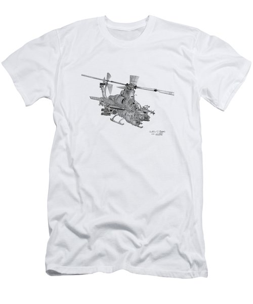 Men's T-Shirt (Slim Fit) featuring the digital art Bell Ah-1z Viper by Arthur Eggers