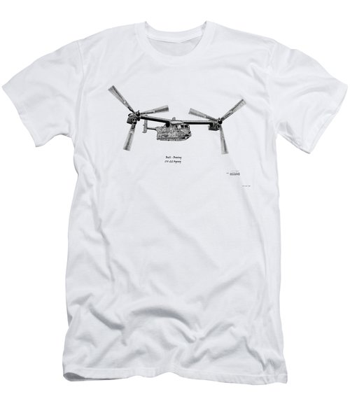 Bell Boeing Cv-22b Osprey Men's T-Shirt (Slim Fit) by Arthur Eggers