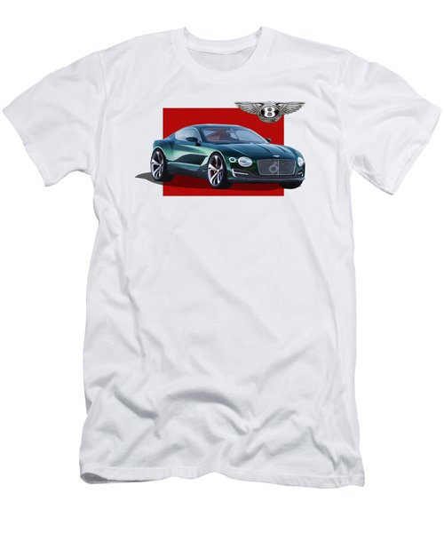Bentley E X P  10 Speed 6 With  3 D  Badge  Men's T-Shirt (Athletic Fit)