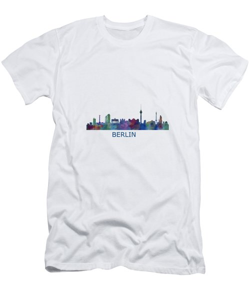 Berlin City Skyline Hq 1 Men's T-Shirt (Slim Fit) by HQ Photo