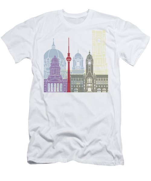 Berlin Skyline Poster Men's T-Shirt (Slim Fit)