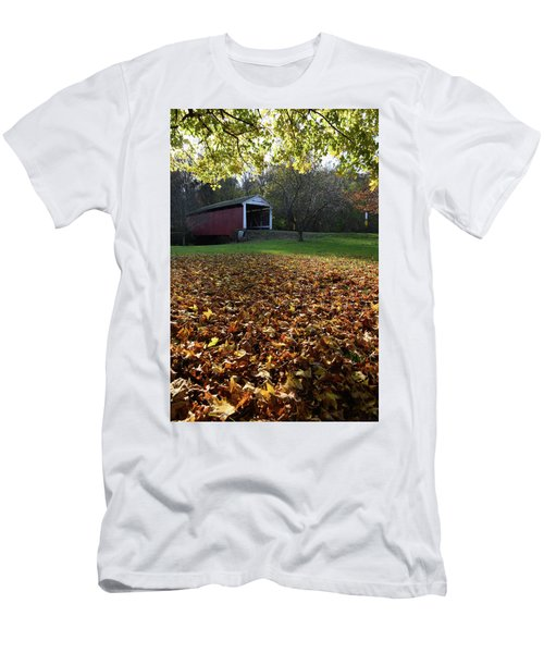 Billy Creek Bridge Men's T-Shirt (Slim Fit) by Joanne Coyle