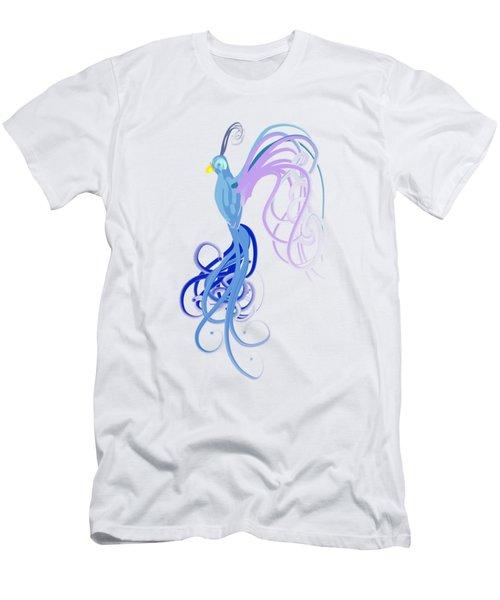 Blu Men's T-Shirt (Slim Fit) by Diq