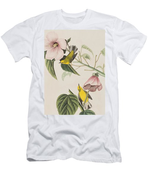 Blue-winged Yellow Warbler  Men's T-Shirt (Athletic Fit)