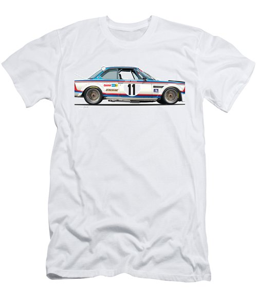Bmw 3.0 Csl Chris Amon, Hans Stuck Men's T-Shirt (Athletic Fit)