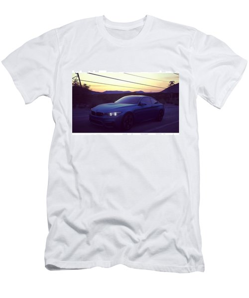 #bmw #m4 #sunset #desert #driveclub Men's T-Shirt (Athletic Fit)