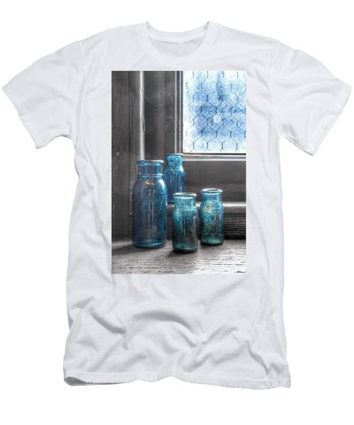 Men's T-Shirt (Athletic Fit) featuring the photograph Bromo Seltzer Vintage Glass Bottles by Marianna Mills