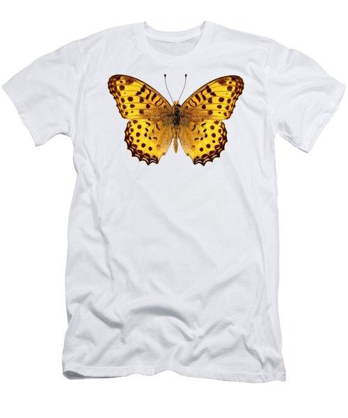 Butterfly Species Argynnis Hyperbius  Men's T-Shirt (Athletic Fit)
