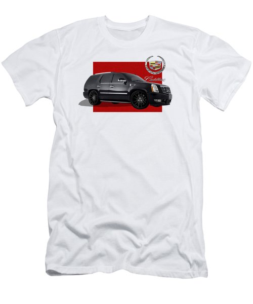 Cadillac Escalade With 3 D Badge  Men's T-Shirt (Athletic Fit)