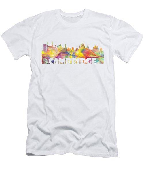 Cambridge England Skyline Men's T-Shirt (Athletic Fit)