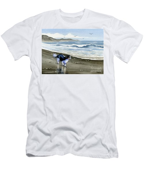 Cavalier King Charles Spaniel At The Beach Men's T-Shirt (Athletic Fit)