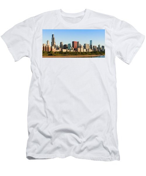 Chicago Downtown At Sunrise Men's T-Shirt (Athletic Fit)