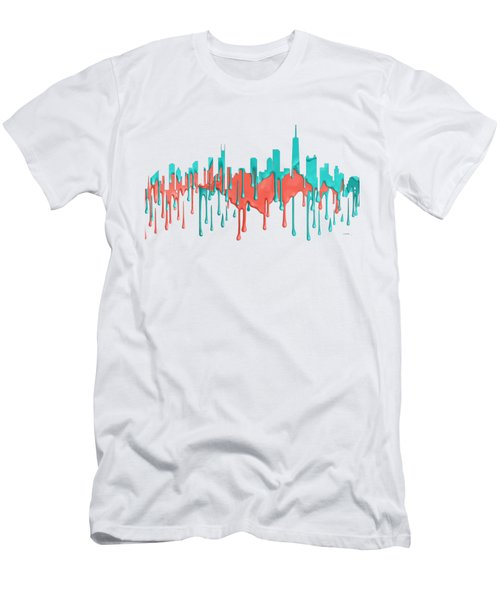 Chicago Illinios Skyline Men's T-Shirt (Athletic Fit)