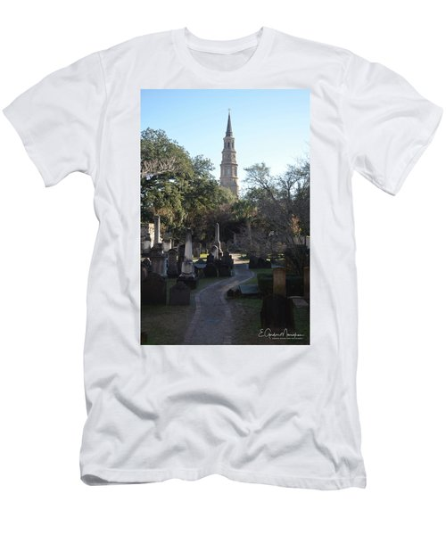 Circular Congregational Graveyard 3 Men's T-Shirt (Slim Fit) by Gordon Mooneyhan