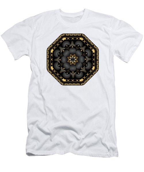 Men's T-Shirt (Slim Fit) featuring the digital art Circularium No. 2616 by Alan Bennington