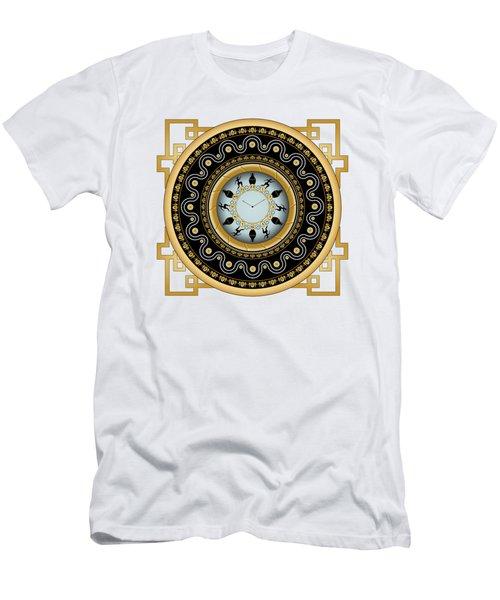 Men's T-Shirt (Slim Fit) featuring the digital art Circularium No 2653 by Alan Bennington