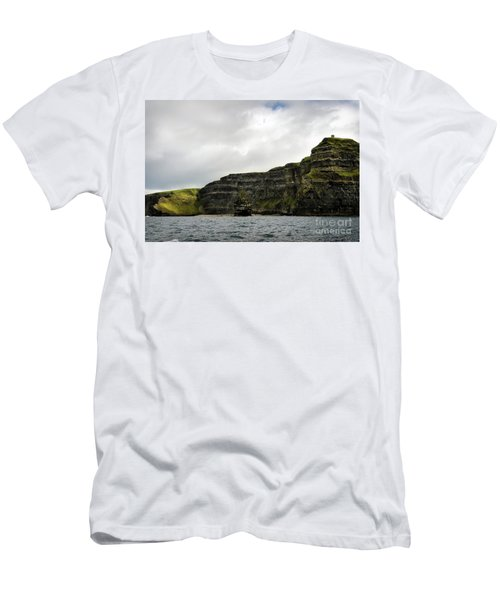 Men's T-Shirt (Slim Fit) featuring the photograph Cliffs Of Moher From The Sea by RicardMN Photography