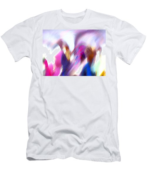 Color Dance Men's T-Shirt (Slim Fit) by Anil Nene