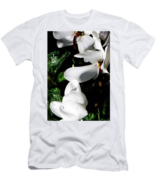 Men's T-Shirt (Slim Fit) featuring the photograph Cyclamen by Mindy Newman
