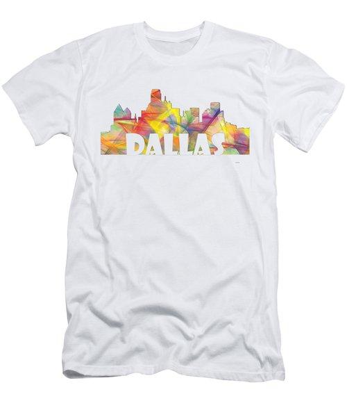 Dallas Texas Skyline Men's T-Shirt (Athletic Fit)