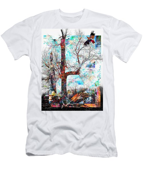 Dead Tree And Crow Men's T-Shirt (Athletic Fit)