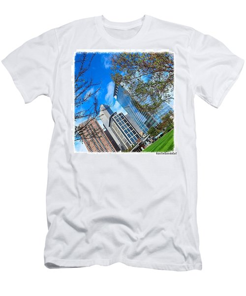 #downtown #houston On A #beautiful Men's T-Shirt (Athletic Fit)
