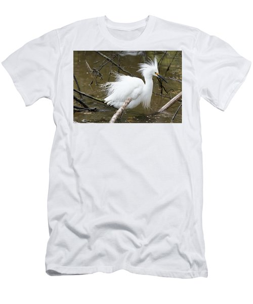 Egret Bath Men's T-Shirt (Athletic Fit)