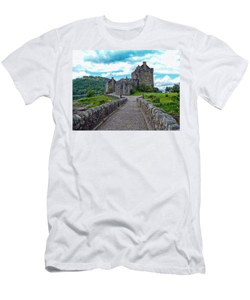 Eilean Donan Castle - -sct665549 Men's T-Shirt (Athletic Fit)