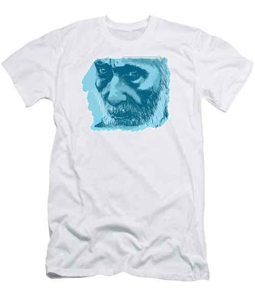 Men's T-Shirt (Slim Fit) featuring the drawing Eyes by Antonio Romero