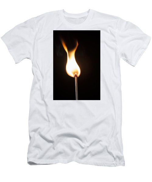 Men's T-Shirt (Slim Fit) featuring the photograph Flame by Tyson and Kathy Smith