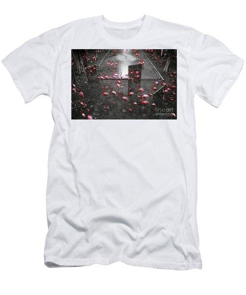 Men's T-Shirt (Slim Fit) featuring the photograph Flamingo by Setsiri Silapasuwanchai