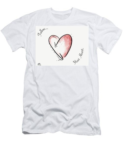 Follow Your Heart Men's T-Shirt (Slim Fit) by Jason Nicholas