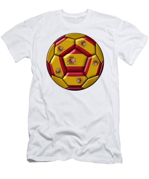 Football Ball With Spanish Flag Men's T-Shirt (Athletic Fit)