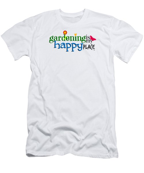 Gardening Is My Happy Place Men's T-Shirt (Athletic Fit)