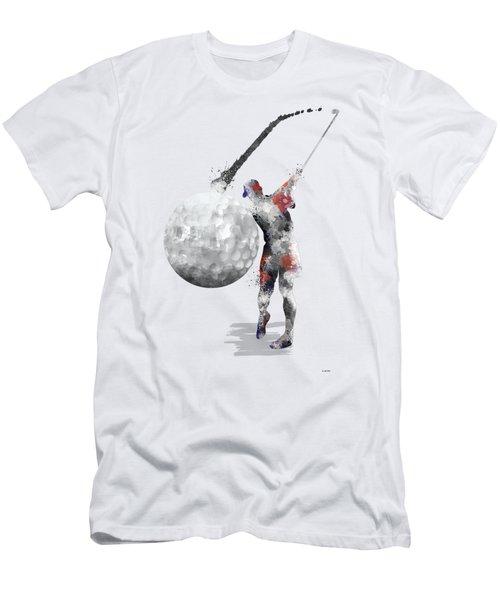 Golf Player Men's T-Shirt (Slim Fit) by Marlene Watson