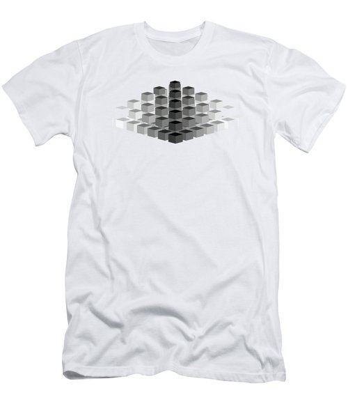 Gradient Pyramid Men's T-Shirt (Athletic Fit)
