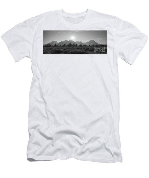 Grand Teton National Park Sun Burst Men's T-Shirt (Athletic Fit)