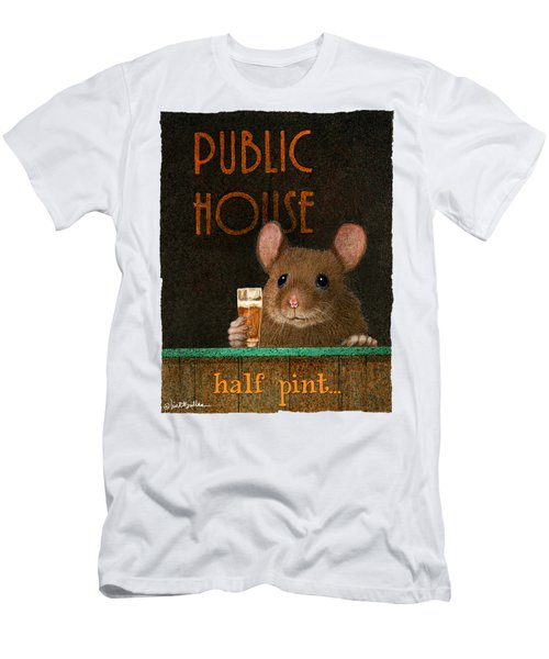 Half Pint... Men's T-Shirt (Slim Fit) by Will Bullas
