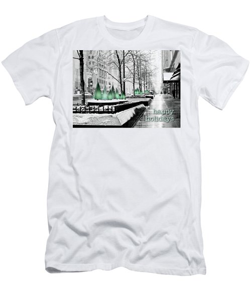 Happy Holidays From Chicago Men's T-Shirt (Athletic Fit)