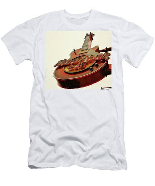 Men's T-Shirt (Slim Fit) featuring the photograph Hard Rock Cafe' by Al Fritz