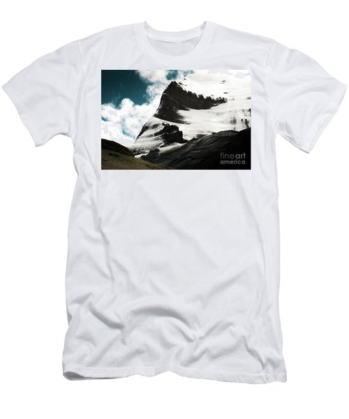 Holy Kailas Fragment Himalayas Tibet Yantra.lv Men's T-Shirt (Athletic Fit)