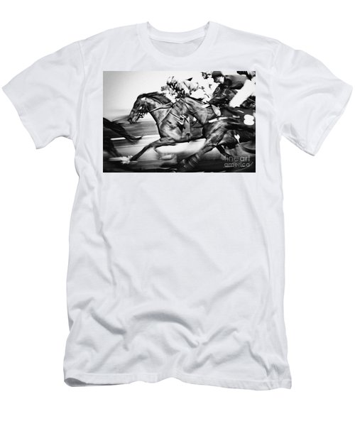 Horse Racing Men's T-Shirt (Athletic Fit)